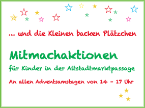 Mitmachaktionen für Kinder in der Altstadtmarktpassage